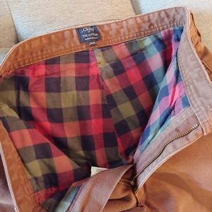 J Crew The Sutton flannel lined brown corduroys